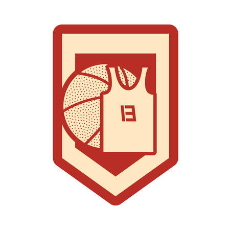 basketball sport ball jersey emblem vector illustration