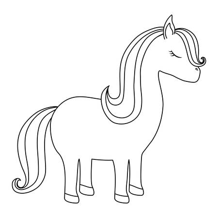 cute unicorn animal isolated icon vector illustration design