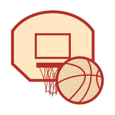 basketball sport ball basket white background vector illustration 向量圖像
