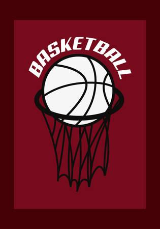 basketball sport ball basket vector illustration vector illustration Ilustração