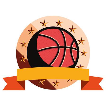 basketball sport ball sport emblem vector illustration 向量圖像