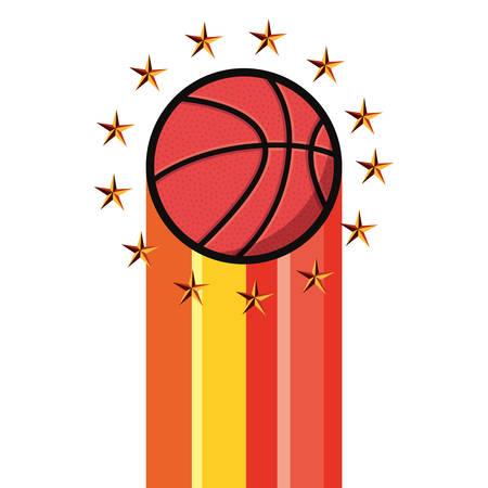 basketball ball sport athletic vector illustration design