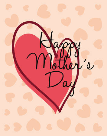 happy mothers day heart love vector illustration Imagens - 122816758