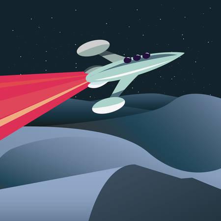 rocket launch travel galaxy vector illustration design Иллюстрация