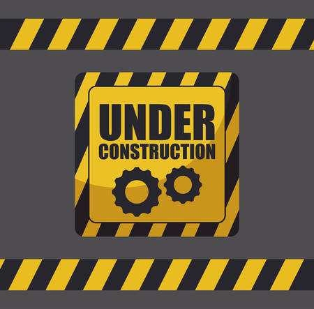 under construction label with traffic signals vector illustration design 일러스트