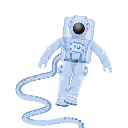 space astronaut with hose avatar character vector illustration design