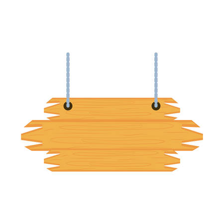 wooden label hanging isolated icon vector illustration design Ilustração