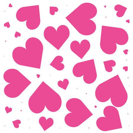 pattern of hearts love backdrop vector illustration design Stock Illustratie