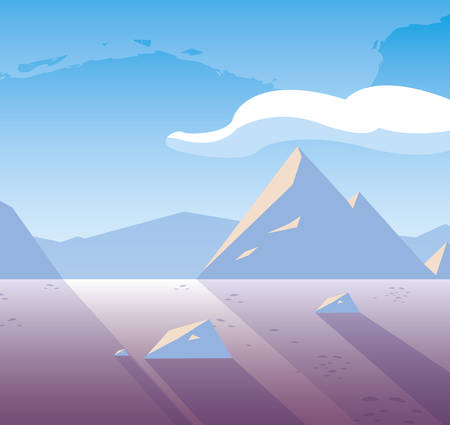 beautiful snowscape scene icon vector illustration design 矢量图像