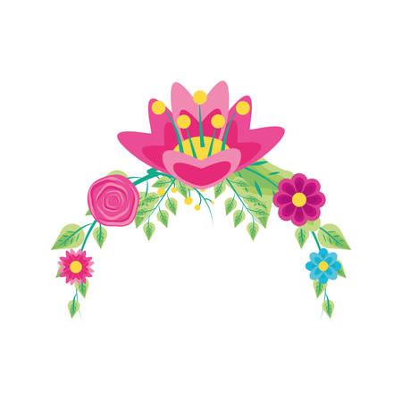 Dekoration von schönen Blumen Naturals Vector Illustration Design