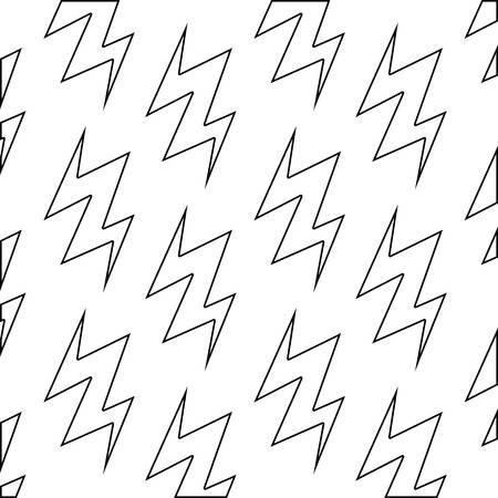 pattern of thunderbolts icons vector illustration design