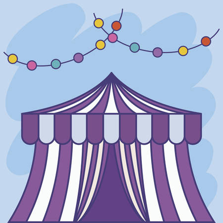 circus tent with garlands vector illustration design