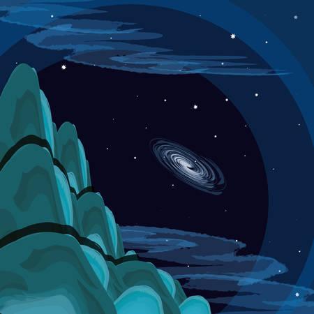 space view scene icon vector illustration design