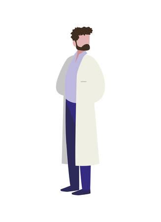 medical doctor professional character vector illustration design Illustration