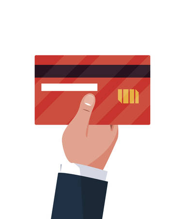 hand with credit card vector illustration design 向量圖像