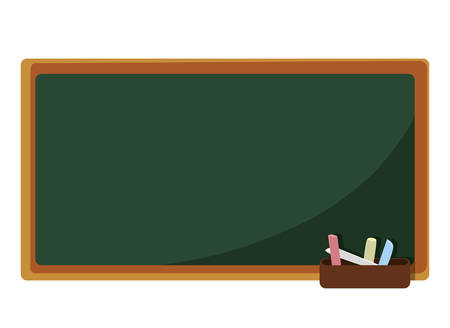 chalkboard classroom isolated icon vector illustration design