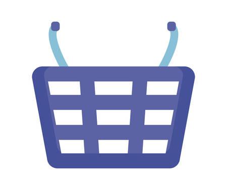 shopping basket isolated icon vector illustration design  イラスト・ベクター素材