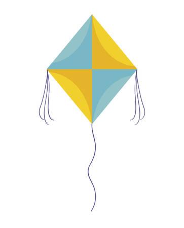 kite flying isolated icon vector illustration design Illusztráció