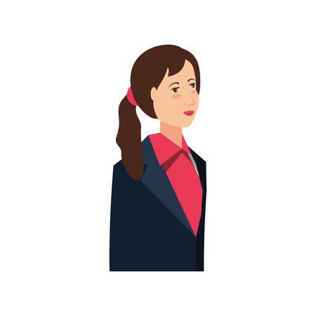 business woman elegant avatar character vector illustration design Stockfoto - 122724964