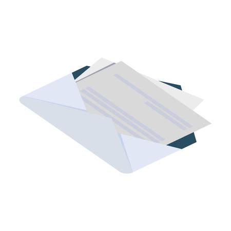 envelope mail isolated icon vector illustration design Ilustração