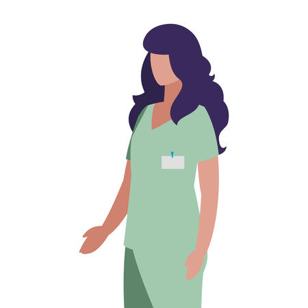 female medicine worker with uniform character vector illustration design Illustration