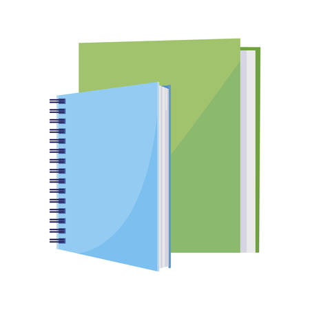 school notebook with text books vector illustration design 向量圖像