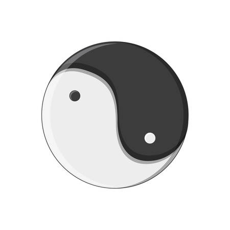yin yang chinese isolated icon vector illustration design Illusztráció