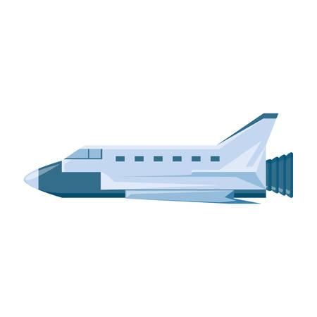 spaceship vehicle isolated icon vector illustration design