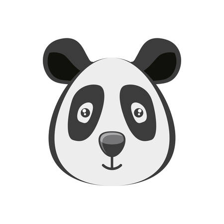head of bear panda wildlife animal icon vector illustration design Standard-Bild - 121887819