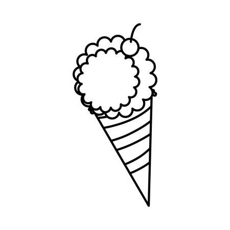 sweet ice cream icon vector illustration design