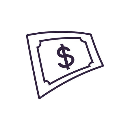 bill dollar isolated icon vector illustration design