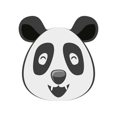 head of bear panda wildlife animal icon vector illustration design Standard-Bild - 121887931