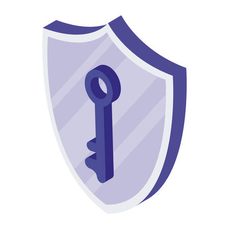 security shield with key vector illustration design Ilustrace