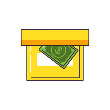 bill dollar in box office vector illustration design Ilustrace