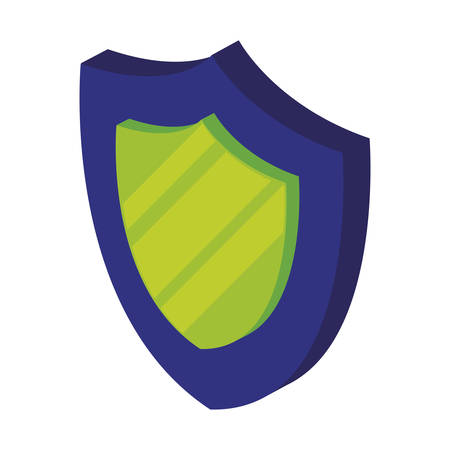 security shield isolated icon vector illustration design Ilustrace