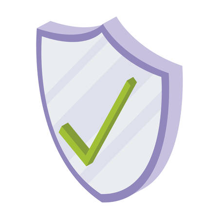 security shield isolated icon vector illustration design Illustration
