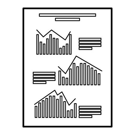 financial paper document with statistics vector illustration design Ilustração