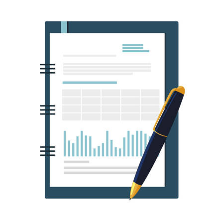 office notepad isolated icon vector illustration design