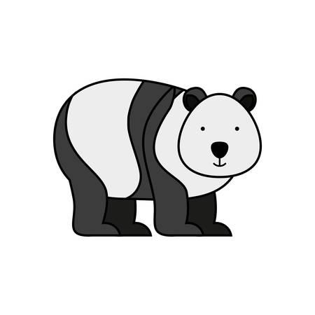 bear panda animal icon vector illustration design Standard-Bild - 122665072