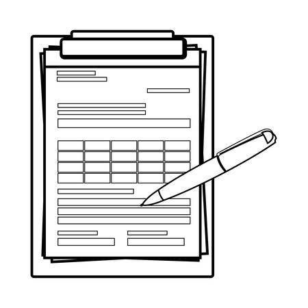 checklist clipboard isolated icon vector illustration design Vettoriali