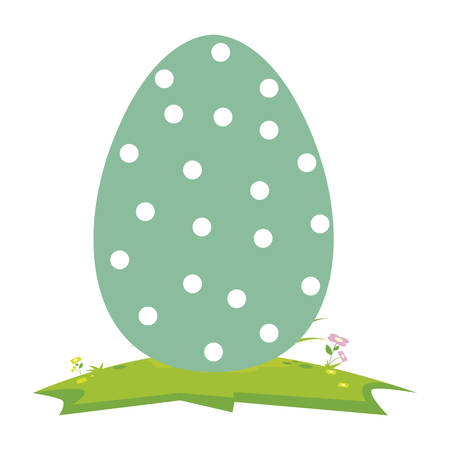 happy easter egg painted in camp vector illustration design Çizim