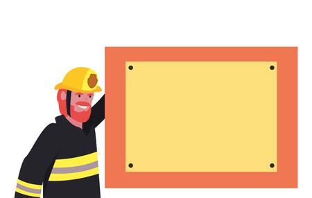 fireman board labour day vector illustration design Ilustração