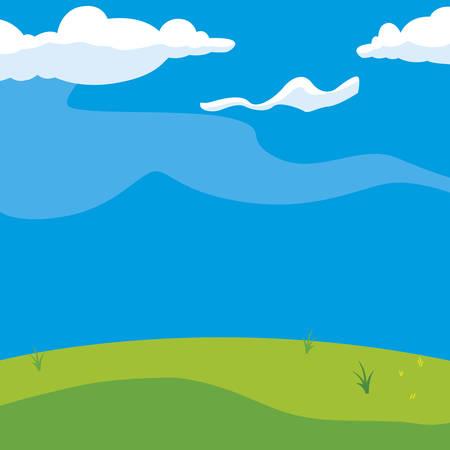 beautiful landscape scene icon vector illustration design