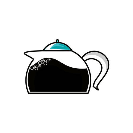 teapot kitchen isolated icon vector illustration design