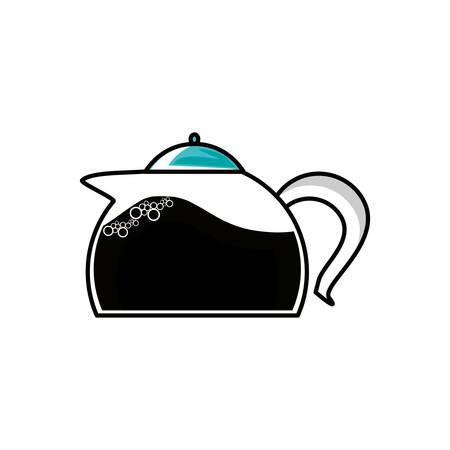 teiera cucina icona isolata illustrazione vettoriale design