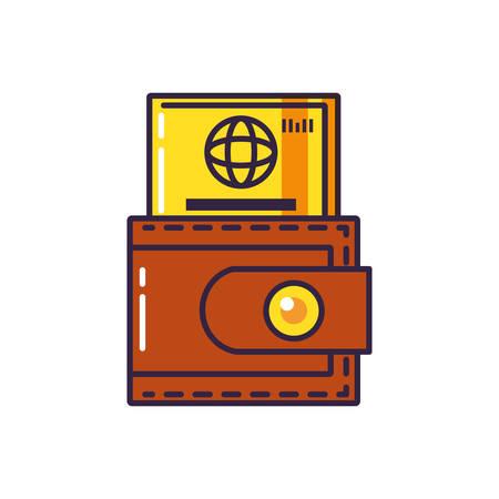 credit card money with wallet vector illustration design Illustration