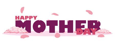 happy mother day card with petals vector illustration design Фото со стока - 122603128