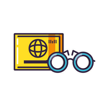 optical eyeglasses with credit card vector illustration design  イラスト・ベクター素材
