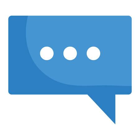speech bubble message icon vector illustration design  イラスト・ベクター素材
