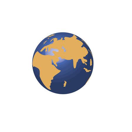 world planet earth icon vector illustration design Stockfoto - 122603771
